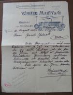 FATTURA LITHOGRAPHIE U. PRAEGEANSTAL BUCHBINDEREI CARTONAGEFABRIK WALTER MARTY HERISAU UND ST GALLEN ANNO 1906 SVIZZERA - Svizzera