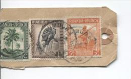 Ruanda-Urundi TP 132-135-141 S/Echantillon Sans Valeur Recommandé Usumbura 1945 PR705 - Ruanda-Urundi