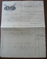 FATTURA E. OEDERLIN & CIE. BADEN ANNO 1895 SVIZZERA CANTONE ARGOVIA - Svizzera