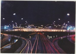 Cpsm   Transport  Aviation Aeroport De Paris Orly  L Aerogare Vue La Nuit - Aerodrome