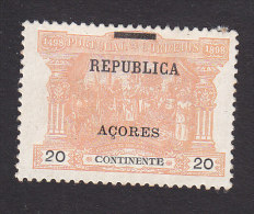 Azores, Scott #151, Mint Hinged, Postage Due Of Portugal Overprinted, Issued 1911 - Azores
