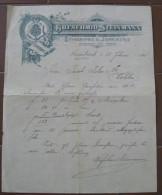 FATTURA LITHOGRAPHIE IMPRIMERIE PAPETERIE HUFSCHMID STEINMANN TRMBACH PRES OLTEN ANNO 1890 CANTON SOLETTA SVIZZERA - Svizzera