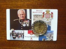 """MONACO : """"COINCARD"""" Présentation Fashion Avec Piéce 1 Ou 2€ NEUVE  RAINIER III  *2001 Ou 2002 - Monaco"""