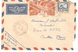 LETTRE PAR AVION DE SAIGON INDOCHINE A CASTRES TARN FRANCE 1947 - Indochina (1889-1945)