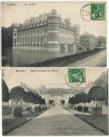 5 Cartes Du Chateau De Beloeil Voyagé Vers Hopital Civil De Reims Eleve Infirmiere Edit Nels - Beloeil