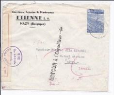 N°771 S/l.commerciale De MAZY à HAIFA ( Israêl).Censure Italienne+divers Cachets Israëliens NON DISTRIBUTION. Retour.RAR - Belgique
