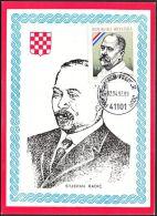 """Croatia 1992, Maximum Card """"Stjepan Radic """", Ref.bbzg - Croacia"""