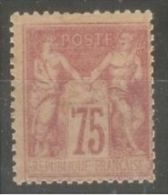 """FRANCE STAMP TIMBRE N° 81 \"""" TYPE SAGE 75c ROSE 1885 \"""" NEUF Xx A VOIR - Sin Clasificación"""