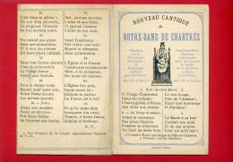 NOUVEAU CANTIQUE A NOTRE DAME DE CHARTRES 1876 - Religion &  Esoterik