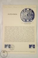 Official La Poste France - Philatelic First Day Document: Eurovision - Primer Jour 12 Jan. 1980 - Documentos Del Correo