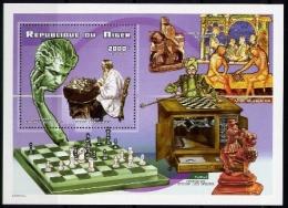 Echecs Bloc Neuf Niger 1999 Chess Sheet MNH - Echecs