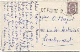 TP 714 S/CP C.Bruxelles En 1951 + Griffe DE Panne 2 V.Lodelinsart PR708 - Postmark Collection