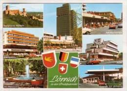 Lörrach , Mehrbildkarte , Burgruine Rötteln - Am Marktplatz - Königsbau - AOK - Im Hebelpark - Grenze Zur Schweiz - Lörrach