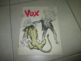 VOX Magazine Churchill England German Propaganda Guerre WWII - Documents