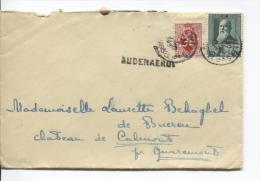 TP 299-282 S/L.c.Bruxelles 30/7/1930 + Griffe Audenaerde V.Quaremont PR712 - Postmark Collection