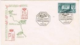 8972. Carta Inauguracion Ferrocarril Puebla De Sanabria A Orense 1957 - 1951-60 Storia Postale