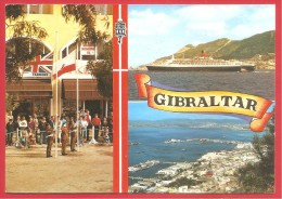 CARTOLINA VG GIBILTERRA - Panorama - Vedute - Porto - 10 X 15 - ANNULLO 1985 - Gibilterra