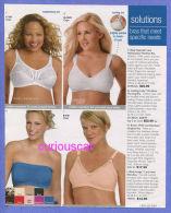 PUBLICITES USA MAGAZINE ADVERTISEMENT RECLAME WERBUNG REKLAME PUBBLICITA PUBLICIDAD For  LINGERIE LADYs BRAS - Publicités