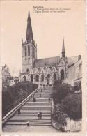 CPA Alsemberg - L'Eglise Ducale Et Les Escaliers - 1951 (4802) - Beersel