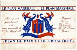 BUVARD BUVARDS LE PLAN MARSHALL RAPPORTS FRANCE ETATS UNIS FAUBOURG SAINT HONORE PARIS 8 - Buvards, Protège-cahiers Illustrés