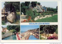 VEULES LES ROSES -5 Vues : Les Moulins, Chaumières Normandes Et Les Cressonnières, La Veule, Vue Générale De La Plage  . - Veules Les Roses