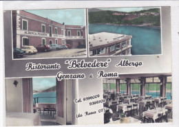 """CARD   GENZANO DI ROMA  ALBERGO """"BELVEDERE """"VEDUTINE   (ROMA)     -FG-V-2-  0882-20573 - Altre Città"""