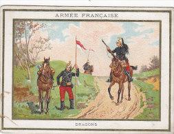 Chromos - Militaria - Cavalerie Dragons - Chicorée Bergère Emile Bonzel Haubourdin - Chocolat