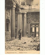 CPA-BELGIQUE-1919-LOUVAIN -ENTREE DU THEATRE-RUINES-ANIMEE-1 HOMME- - Other