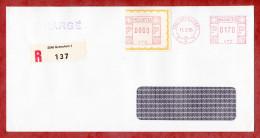 Einschreiben Reco, Postfreistempel Und R-Zettel Grenchen 1985 (54671) - Suisse