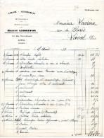 FACTURES, GARAGE - AUTOMOBILES, Marcel LEBRETON, Laval, Le 27 Avril 1939, (fr : 1.40) - Cars