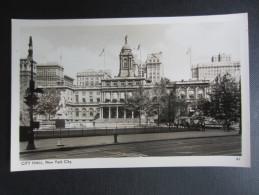 CP ETATS-UNIS (V06) NEW YORK CITY (2 Vues) City Hall - FOTO SEAL - Autres