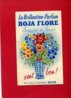 CARTE PARFUMEE LA BRILLANTINE ROJA FLORE BOUQUET DE FLEURS CARTE EN BON ETAT - Modern (from 1961)