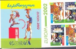 2002. Georgia, Europa 2002, Booklet Of 2 Sets, Mint/** - Georgia