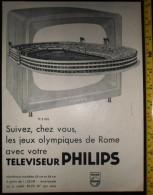 PUB PUBLICITE TELEVISEUR PHILIPS JO JEUX OLYMPIQUES DE ROME - Colecciones