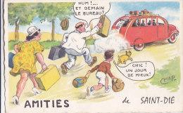 Am - Cpa Illustrée CHAP - Amitiés De SAINT DIE - Saint Die