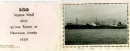 Bateaux - Cargo THIERRY à PORT SAID - Carte Collée Sur Carton - Comercio