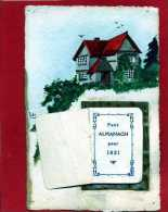 CARTE POSTALE ALMANACH ANNEE 1921 COMPLET AVEC FOOTBALLEUR  VOIR TOUS LES SCANS - Calendriers