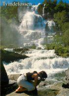 Tvindefossen, Norway Norge Postcard - Norway
