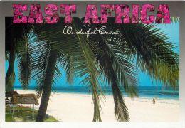 Beach Scene, Kenya Postcard Used Posted To UK 2001 Stamp - Kenya