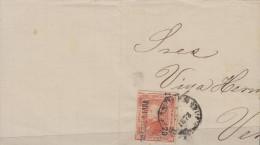 G)1873 MEXICO, HIDALGO ISSUE 25 CTS. GUADALAJARA 16 73, CIRCULATED COVER TO VERACRUZ, XF - Mexico