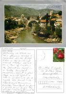Mostar Old Bridge, Bosnia Postcard Used Posted To UK 2011 Stamp - Bosnia And Herzegovina