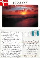 Sunset, Denmark Postcard Used Posted To UK 2012 Stamp - Denmark