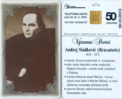 Telefonkarte Slowakei - Andrej Sladkovic - Aufl. 100000 - 15/2000 - Slowakei