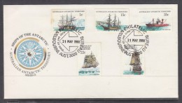 AUSTRALIAN ANTARCTIC TERRITORY SHIPS OF THE ANTARCTIC SERIES II  FDC 21 MAY 1980 - FDC