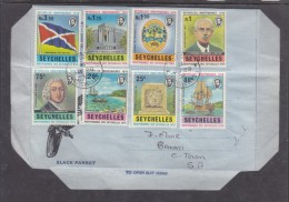 SEYCHELLES INDEPENDENCE To 3Rs50 On Black Parrot Aerogramme VICTORIA JUN 29 76 C.d.s. - Seychelles (...-1976)