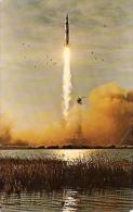 NASA APOLLO 8 LIFTOFF. DECEMBER 1968. EXCLUSIVA POSTAL DE LA NASA! ORIGINAL- AUTHENTIQUE.UNCIRCULATED.  GECKO. - Sterrenkunde