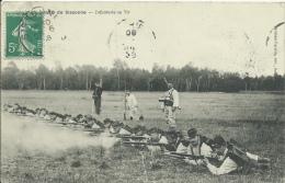 Armée Française - Infanterie Au Tir Au Camp De Sissonne - 1908 ( Voir Verso ) - Régiments