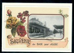 10   BAR  Sur  AUBE  ... ....  Gare. Souvenir Au Fusain Creation Moderne Série  Numerotée 1 à 10 ... N° 2/10 - Bar-sur-Aube