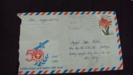 Vietnam Viet Nam Cover 1997 With Flower Stamp - Vietnam