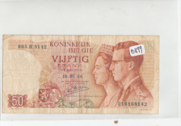 Billets - B1199  -   Belgique     - Billet 50 FRANK 1966 ( Type, Nature, Valeur, état... Voir Double Scan) - Zonder Classificatie